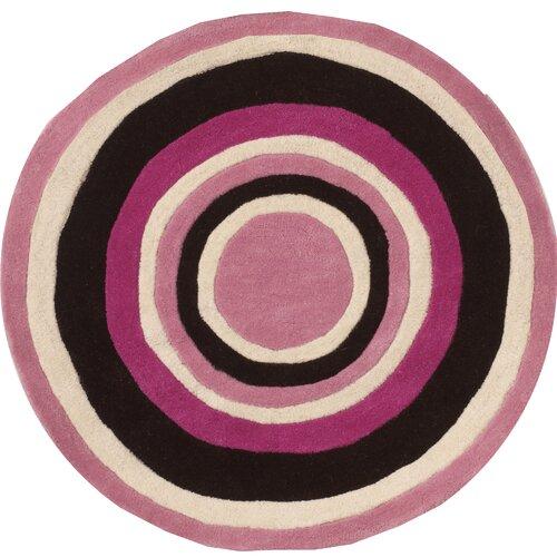 Abacasa Abacasa Kids Bullseye Pink/Chocolate/White Area Rug