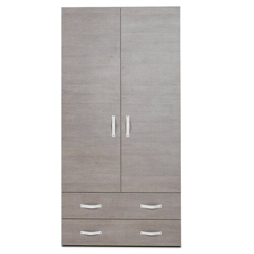 didit Click Furniture 2 Door Armoire with Drawers