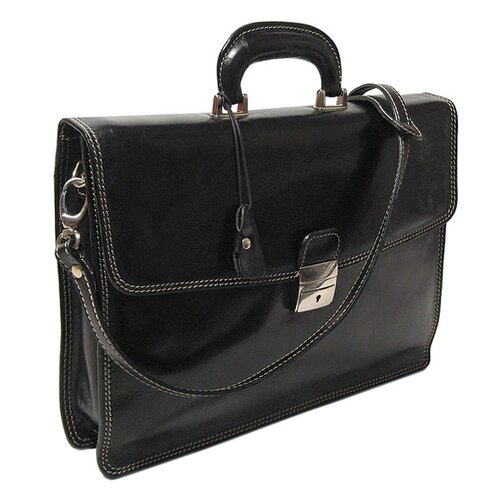 Floto Imports Milano Leather Laptop Briefcase