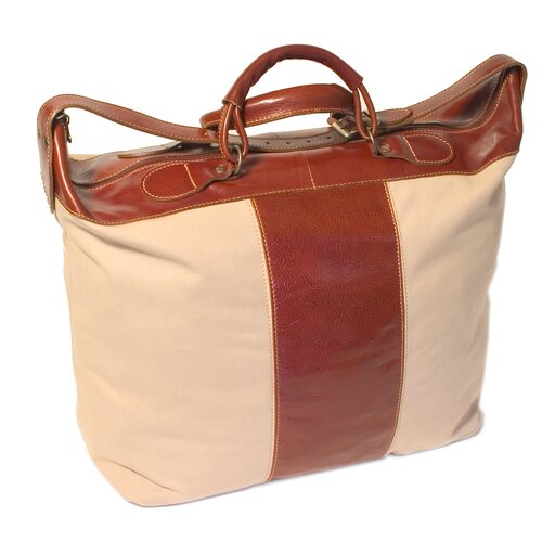 "Floto Imports Piana 18"" Travel Duffel with Leather Trim"