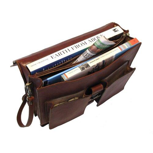 Floto Imports Novella Leather Laptop Briefcase