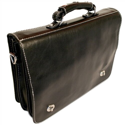 Roma Leather Laptop Briefcase