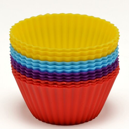 Silicone Cupcake Mold (Set of 12)