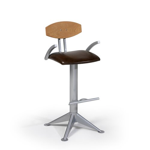 "Createch Midget 24"" Swivel Bar Stool with Cushion"