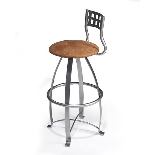 "Createch Nite 30"" Swivel Bar Stool with Cushion"