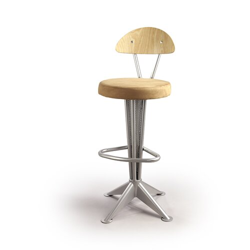 "Createch Tango 30"" Swivel Bar Stool with Cushion"