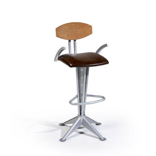 "Createch Bravo 24"" Swivel Bar Stool with Cushion"