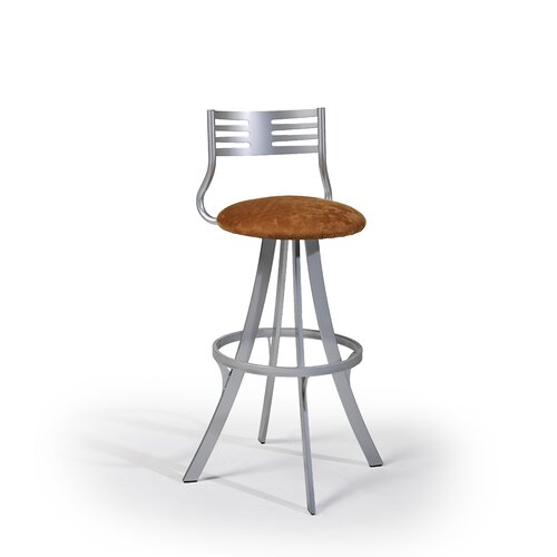 "Createch Lem 30"" Swivel Bar Stool with Cushion"