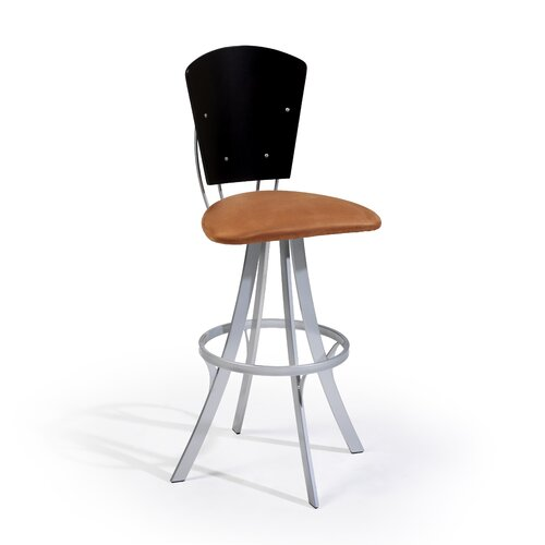 "Createch Hodo 24"" Swivel Bar Stool with Cushion"