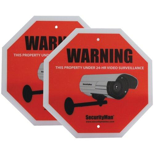 Security Man Surveillance Warning Sign
