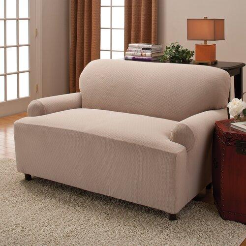 Stretch Stripe Two Piece Sofa T Cushion Slipcover Wayfair