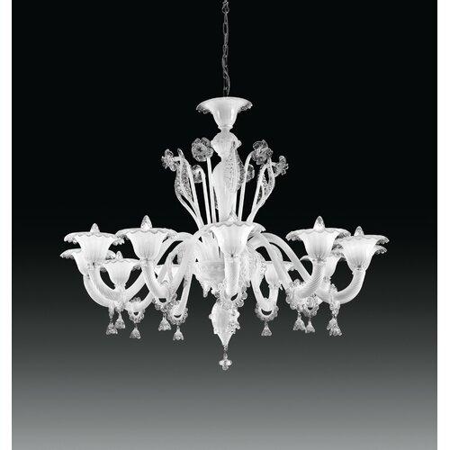 Cristalstrass Murano & Crystal Doge 12 Light Chandelier