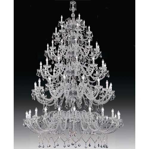 Cristalstrass Murano & Crystal Erika 80 Light Crystal Chandelier
