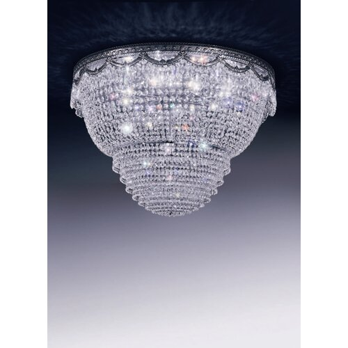 Cristalstrass Murano & Crystal Pegaso 12 Light Crystal Flush Mount