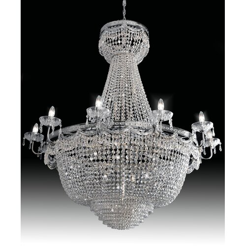 Cristalstrass Murano & Crystal Pegaso Empire 28 Light Crystal Chandelier