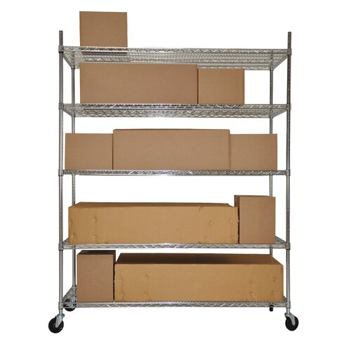 "Trinity NSF Extra Large Commercial Grade 77"" H 5 Shelf Shelving Unit Starter"