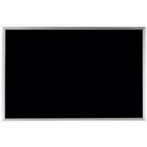 AARCO Black Vinyl Impregnated Cork Bulletin Board with Aluminum Frame