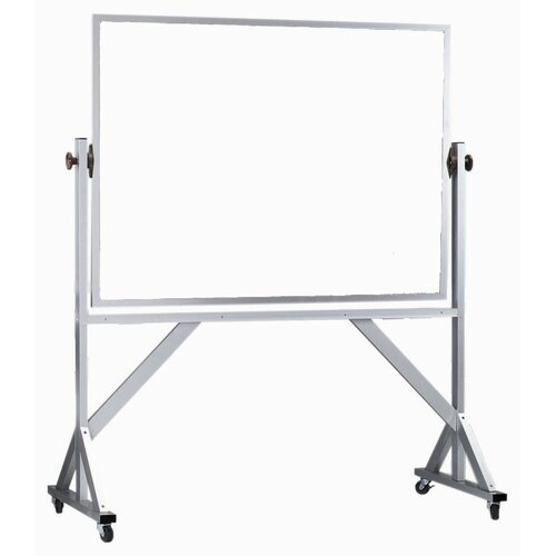AARCO Reversible Free Standing Whiteboard with Aluminum Frame