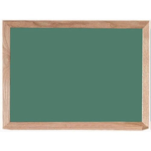 AARCO Green Composition Chalkboard with Wood Frame