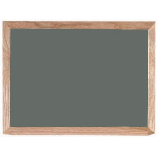 AARCO Gray Chalkboard with Wood Frame