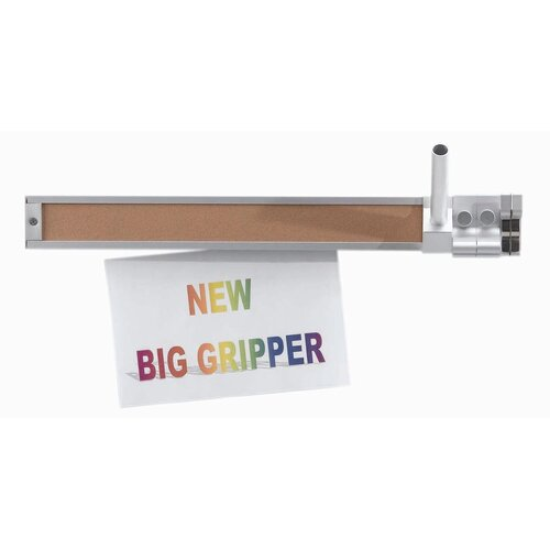 """AARCO 2"""" Display Rail with Paper Gripper"""