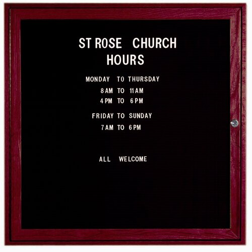 AARCO Enclosed Changeable Letter Board