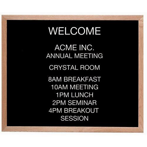AARCO Framed Letter Board Message Center