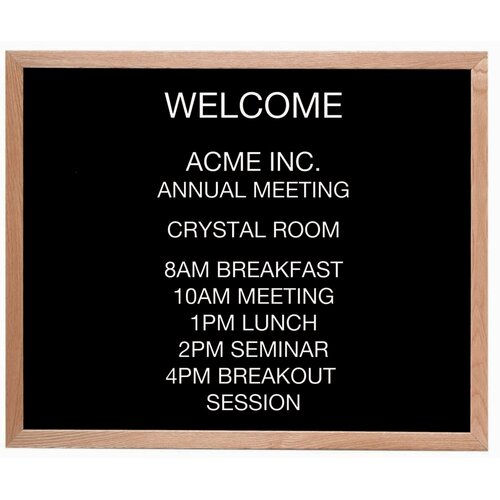 AARCO Framed Letter Board Message Center