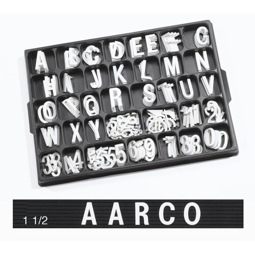 AARCO Universal Single Tab Helvetica Typeface Changeable Letters (160 characters per set)