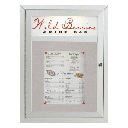 AARCO Aluminum Frame Enclosed Bulletin Board