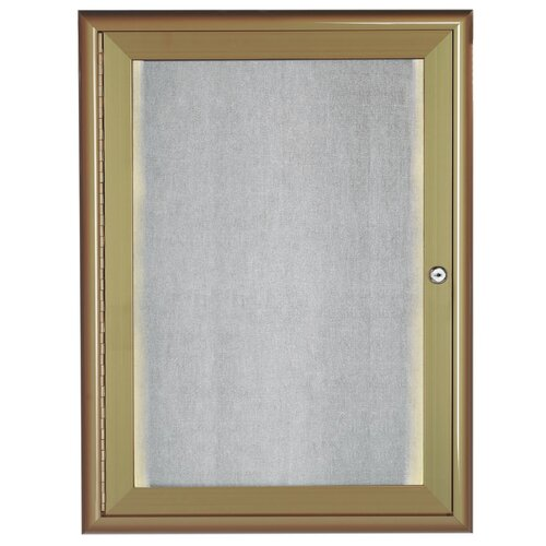 AARCO LED Lighted Enclosed Bulletin Board