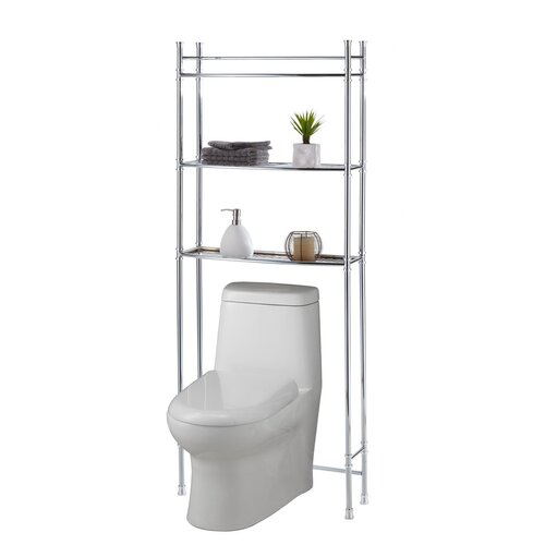 "Fox Hill Trading 25"" x 63"" Bathroom Space Saver Shelf"