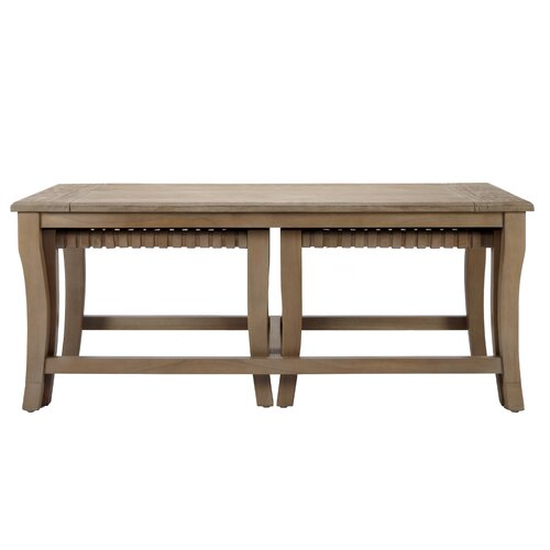 Sasha Coffee Table with Nested Stools
