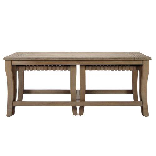 Sasha Coffee Table With Nested Stools Wayfair
