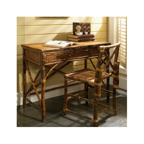 Kenian Coastal Chic English Desk with Chair Set