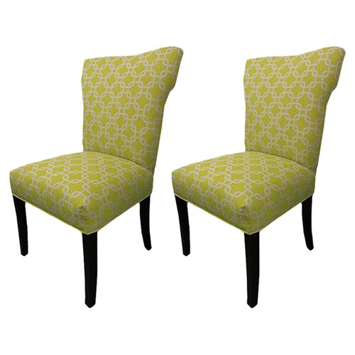 Sole Designs Bella Citrus Wingback Cotton Slipper Chair (Set of 2)