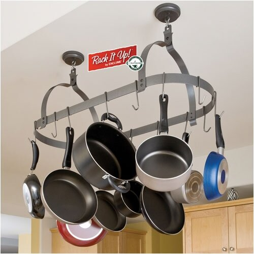 RACK IT UP! Ceiling Oval Hanging Pot Rack