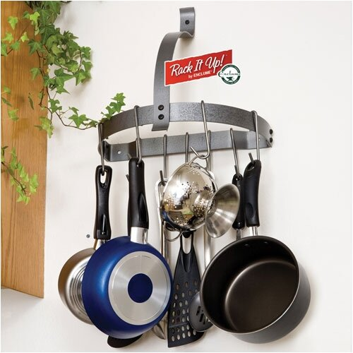 RACK IT UP! Half Moon Wall Mounted Pot Rack