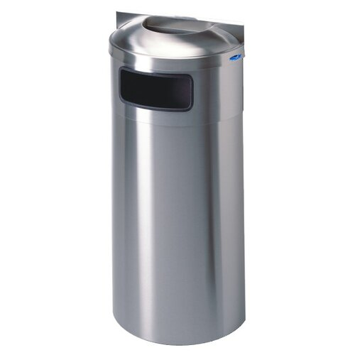 Wall Mounted Waste Receptacle with Ash Urn