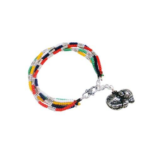 Vivian Yang Liu Li Art Chinese Zodiac Tiger Charm Bracelet