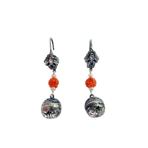 Cultured Pearl Chinese Attraction Drop Earrings