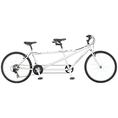 Pacific Dualie Tandem Bike in Silver
