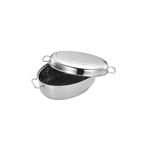 """Cuisinox 15.2"""" x 10"""" Covered Oval Roaster"""
