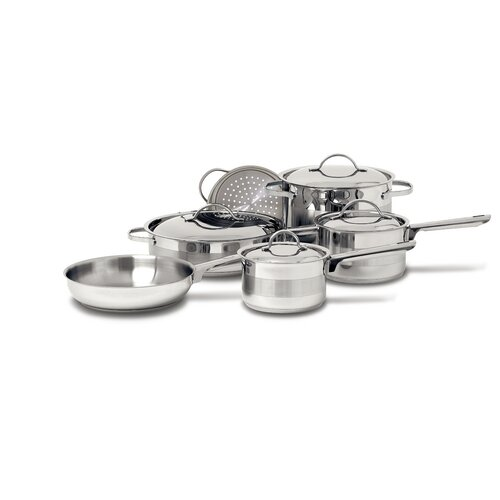 Gourmet 3-Ply Stainless Steel 10-Piece Cookware Set