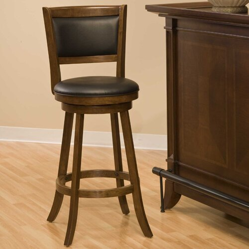 "Hillsdale Furniture Swivel 29"" Bar Stool with Cushion"