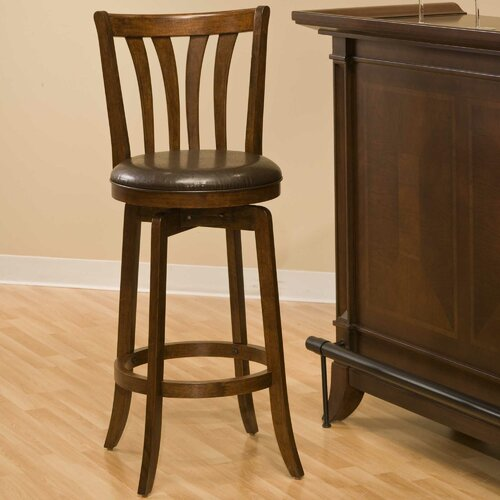 "Hillsdale Furniture Swivel 25.5"" Savana Bar Stool with Cushion"