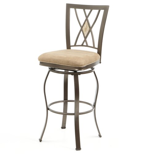 "Hillsdale Furniture Brookside 30"" Swivel Bar Stool with Cushion"