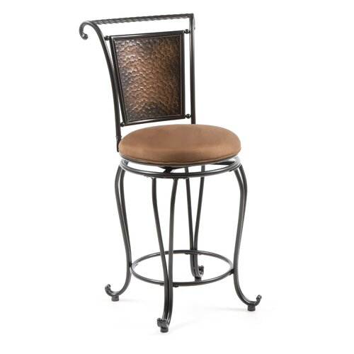 "Hillsdale Furniture Milan 26"" Swivel Bar Stool with Cushion"