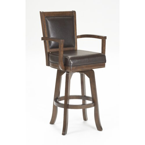 "Hillsdale Furniture Ambassador 30"" Swivel Bar Stool with Cushion"