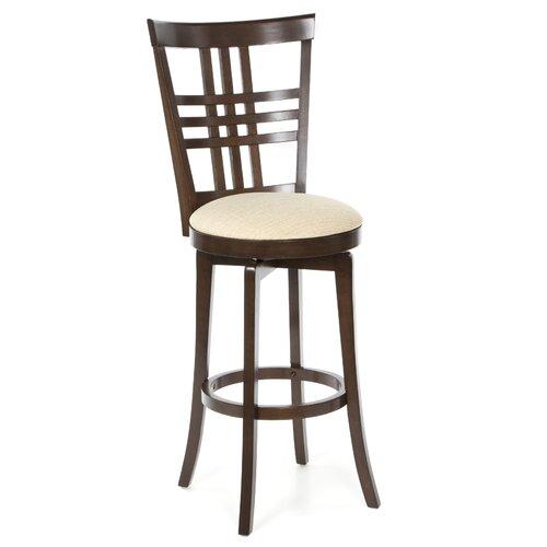 "Hillsdale Furniture Tiburon II 30"" Swivel Bar Stool with Cushion"